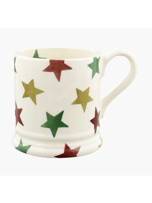 Emma Bridgewater 0.5 pt Mug Red Green & Gold Star