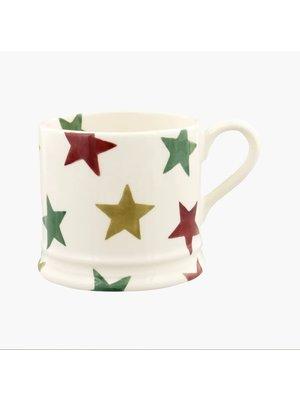 Emma Bridgewater Small Mug Red Green & Gold Star