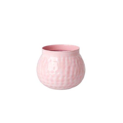 Rice Bloempot metaal small zacht roze - Choose Happy