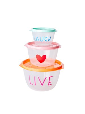 Rice Food Boxes rond Choose Happy set/3