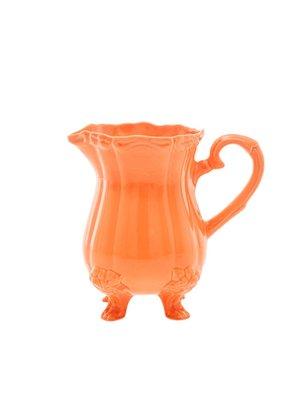 Rice Kan / vaas aardewerk met voetjes Oranje/Tangerine 1,7ltr