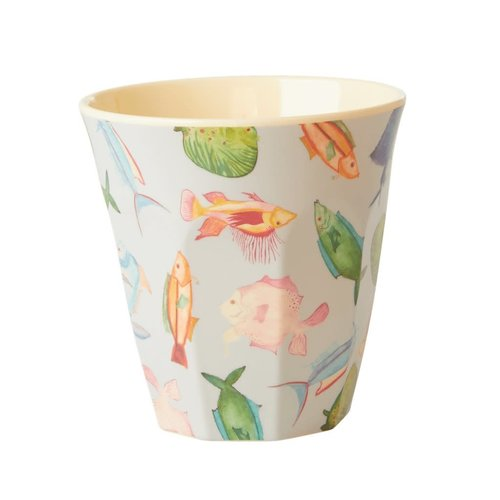 Rice Melamine beker Fish