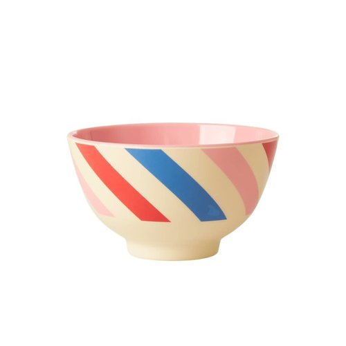 Rice Melamine kom small Candy Stripes