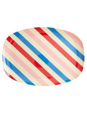 Rice Melamine ovaal bord Candy Stripes