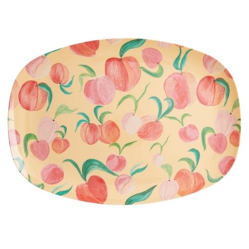Rice Melamine ovaal bord Peach