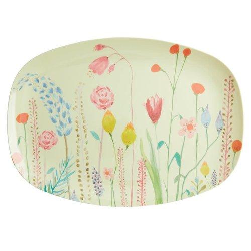 Rice Melamine ovaal bord Summer Flowers