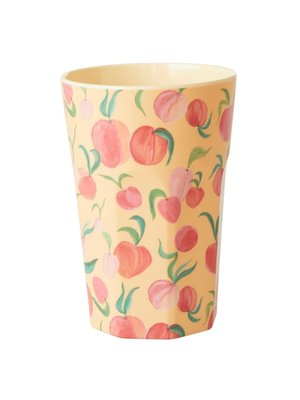 Rice Melamine Tall beker Peach