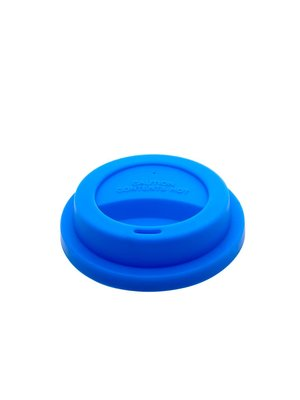 Rice Deksel Silicone voor Tall beker Choose Happy blauw