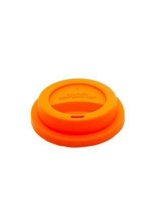 Rice Deksel Silicone voor Tall beker Choose Happy oranje