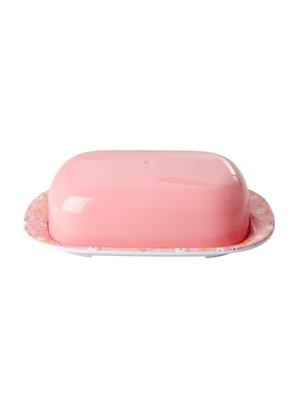 Rice Melamine botervloot Pink Easter Small Flower