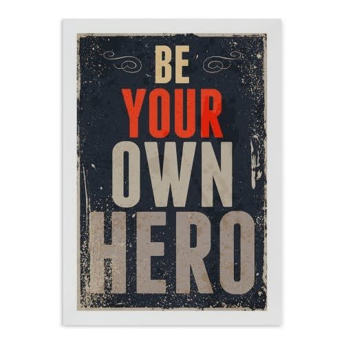 Incado Kunst Kaart 15x21 Typelike Be your own hero