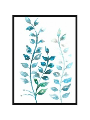 Incado Poster 50x70 Aqua Leafs