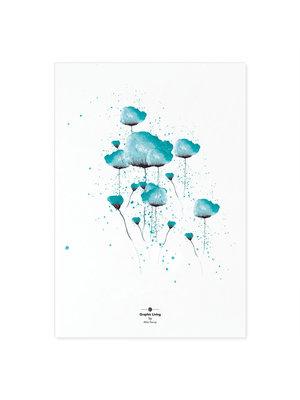 Incado Kunst Kaart 15x21 Graphic Living Blue
