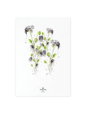Incado Kunst Kaart 15x21 Graphic Living Green