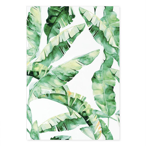Incado Kunst Kaart 15x21 Graphic Banana Leafs