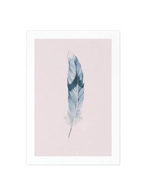 Incado Kunst Kaart 15x21 Heaven on third Feather Pink