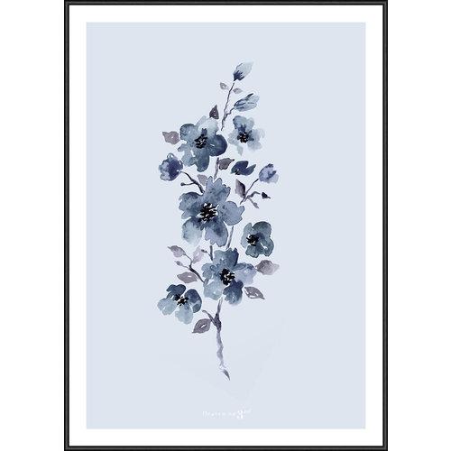 Incado Kunst Kaart 15x21 Heaven on third Floral Blue