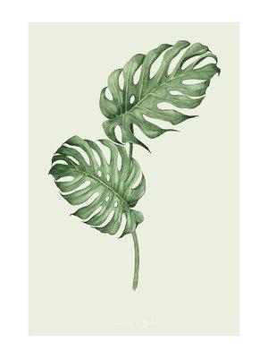 Incado Kunst Kaart 15x21 Heaven on third Leaf Green