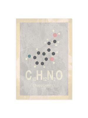 Incado Kunst Kaart 15x21 Molecylen.dk Happiness Pearl