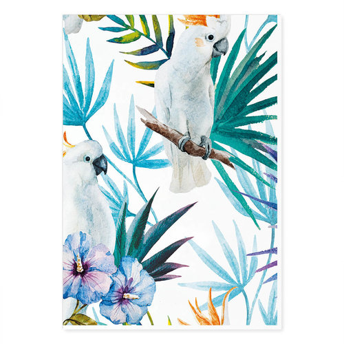 Incado Kunst Kaart 15x21 The Tropic Vibe Cackatoo