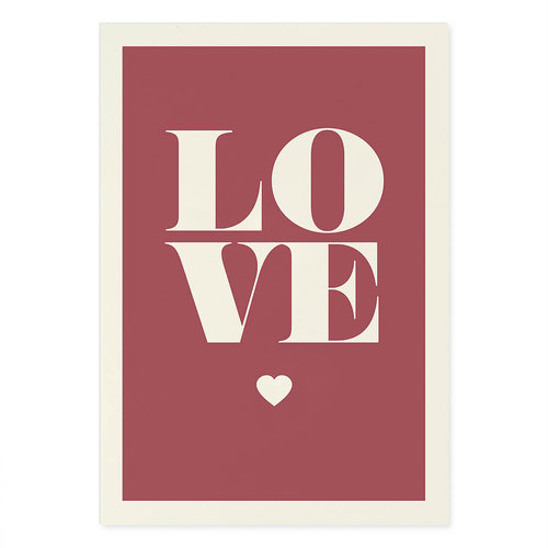 Incado Kunst Kaart 15x21 Typelike Love