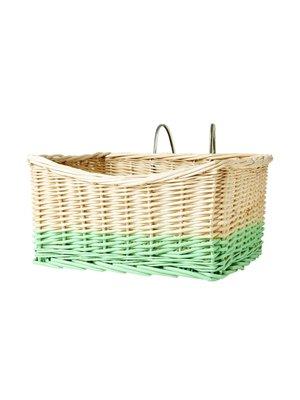 Rice Mand Wilg  pastel groen met ophang beugel