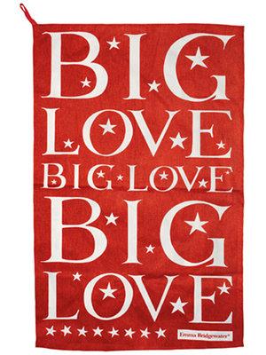 Emma Bridgewater Tea Towel Big Love Red