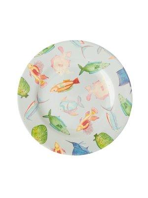 Rice Melamine lunch bord Fish
