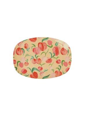 Rice Melamine ovaal bord small Peach