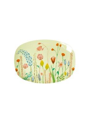 Rice Melamine ovaal bord small Summer Flowers