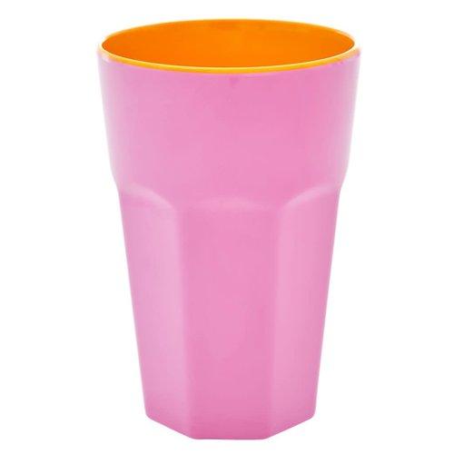 Rice Melamine Tall beker Pink & Orange two tone