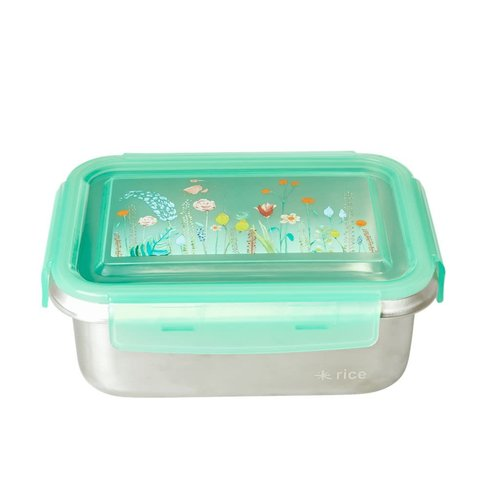 Rice RVS Lunchbox rechthoek Summer Flowers