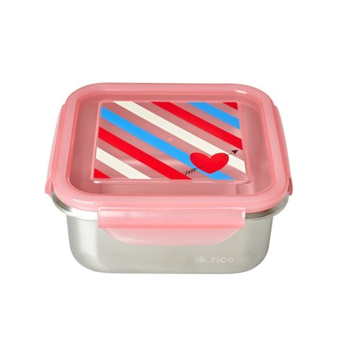 Rice RVS Lunchbox vierkant Candy Stripes