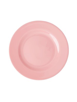 Rice Melamine lunch bord Choose Happy in dark pink