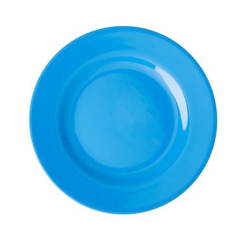 Rice Melamine lunch bord Choose Happy in ocean blue