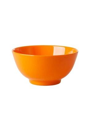 Rice Melamine kom Choose Happy in oranje - tangerine