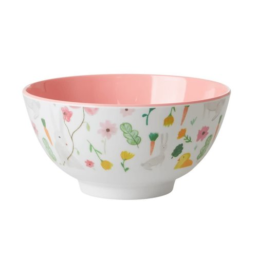 Rice Melamine kom Easter wit