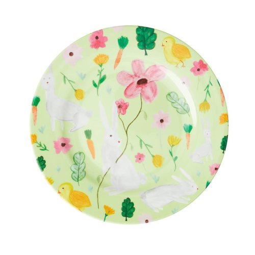 Rice Melamine lunch bord Easter groen