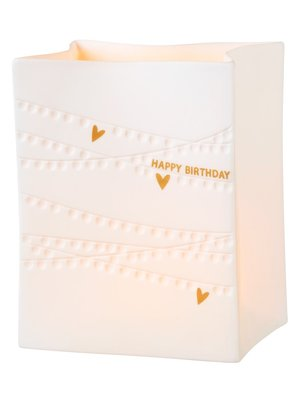 Räder Porseleinen Light Bag Happy Birthday