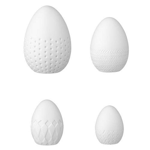 Räder Spring messages Porseleinen Paas eieren set/4