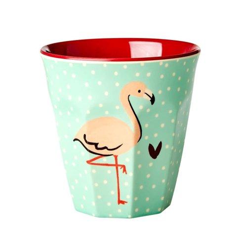 Rice Melamine beker Flamingo