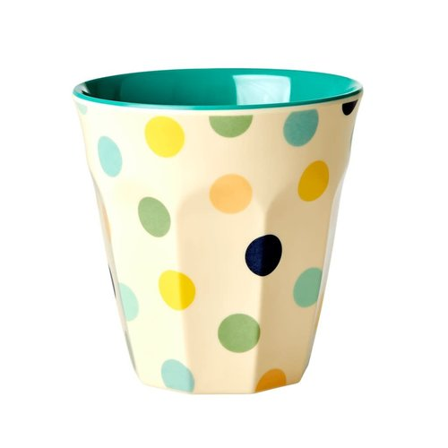 Rice Melamine beker Dots Green