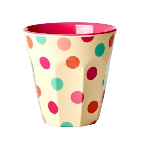 Rice Melamine beker Dots Pink
