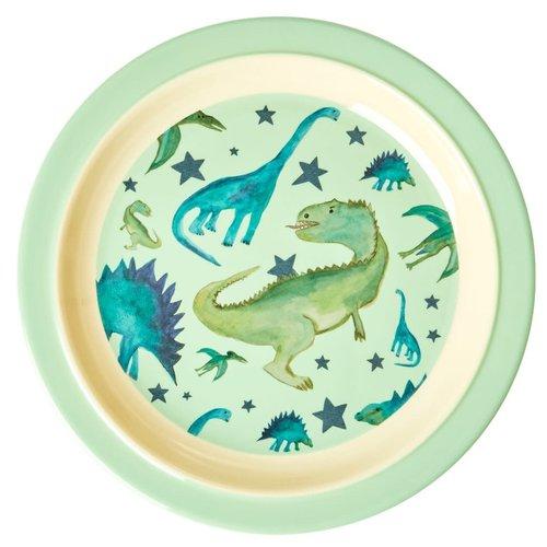Rice Melamine Kids Lunch bord Dino