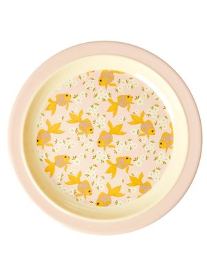 Rice Melamine Kids lunch bord Goldfish