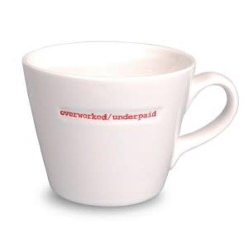 Keith Brymer Jones Bucket Mug Overworked/Underpaid