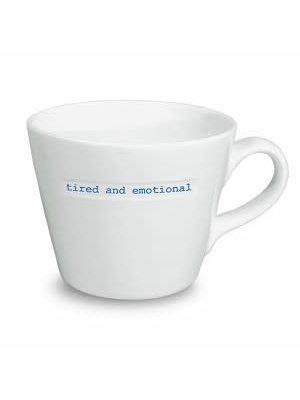 Keith Brymer Jones Bucket Mug Tired and emotional
