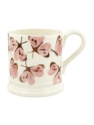 Emma Bridgewater 0.5 pt Mug Pink Cabbage White Butterfly