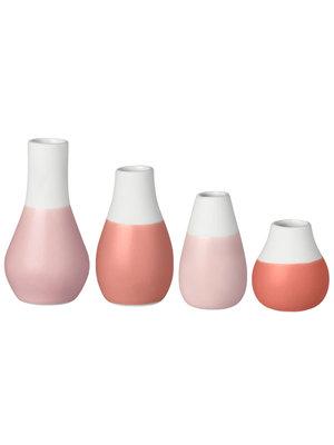 Räder Mini vaasjes roze set/4