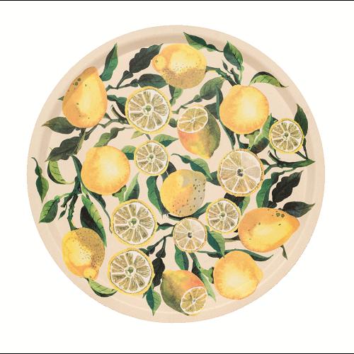 Emma Bridgewater Dienblad berk Lemons rond